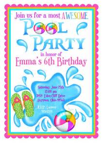 pool invitations personalized invitations