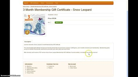 printable animal jam gift certificate animal jam the real way to get a snow leopard youtube