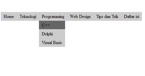 apa itu css layout cara membuat dropdown menu sederhana dengan html dan css