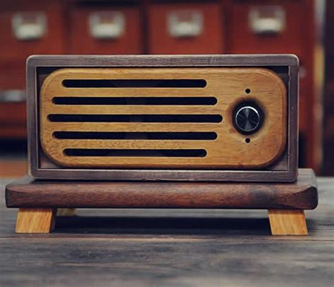 Handcrafted Radio - handmade bluetooth wooden speaker feelgift