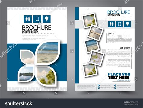 Flyer Design Business Brochure Template Annual Stock Vector 577615597 Shutterstock Free Like Us On Flyer Template