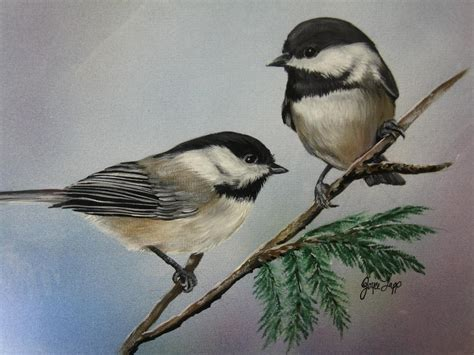 two chickadees by joyce lapp