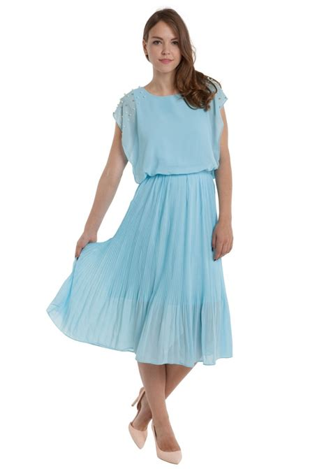 Dress Babyblues Set maxi dress in baby blue happiness boutique