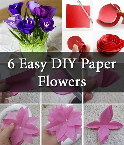 Easy Paper Flower Step By Step - some simple technique of paper flowers step by step