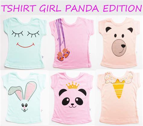 Kazel Ruffle Shirt Perempuan jual kazel tshirt quot panda quot edition kaos bayi kaos anak