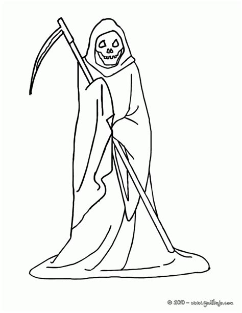 halloween coloring pages grim reaper halloween grim reaper coloring pages coloring home