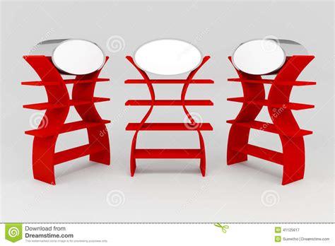 mensole rosse mensole rosse illustrazione di stock immagine di punto