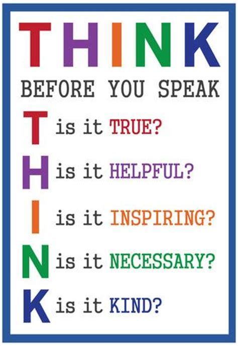 Dr Seuss Wall Stickers think before you speak print at allposters com