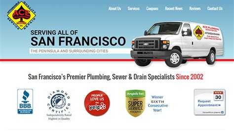 Ace Plumbing And Rooter by 100 Plumbing Websites For Design Inspiration
