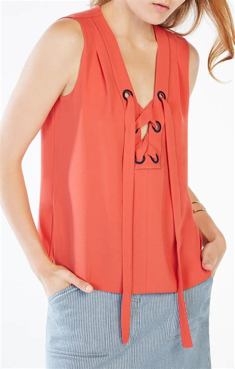 Lace Up Tank Top marcia lace up tank top