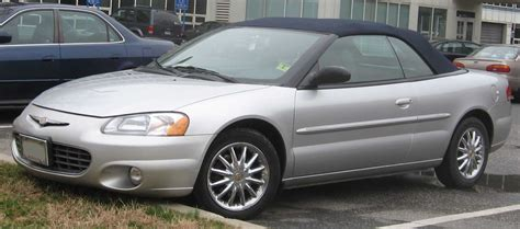 Chrysler Sebring 2001 Convertible by File 2001 2003 Chrysler Sebring Convertible Jpg