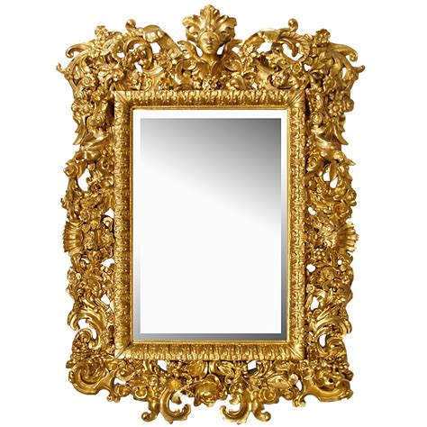 18th century italian baroque all giltwood mirror