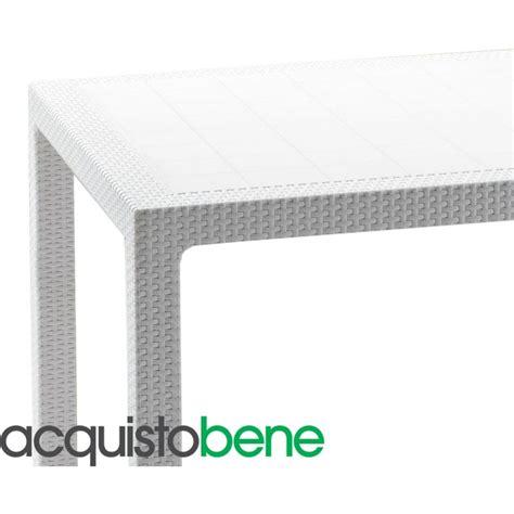 tavoli e sedie da giardino in rattan tavolo da giardino in resina effetto rattan intrecciato bianco