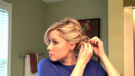 how to do a full updo with a braid real simple youtube