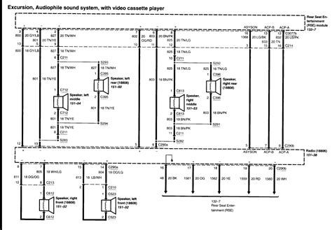 car radio wiring harness diagram 98 expedition wiring