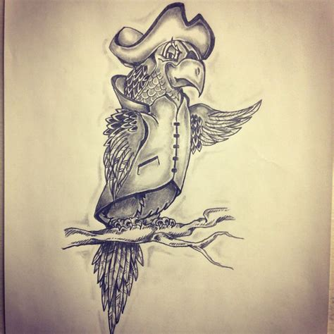 pirate parrot tattoo designs pirate parrot sketch by ranz