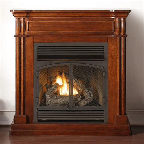 ventless gas fireplace duluth forge dual fuel ventless fireplace 32 000 btu remote autumn spice finish