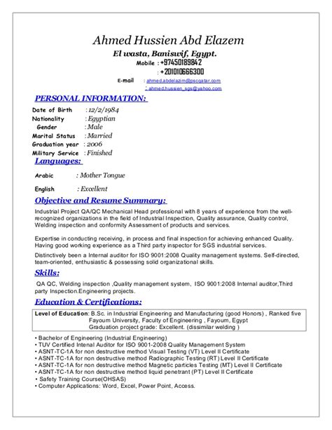 Senior Quality Engineer Sle Resume by Image Gallery Of Senior Qa Engineer Sle Resume 5 Qa Resume Objective Tips Sles Resume