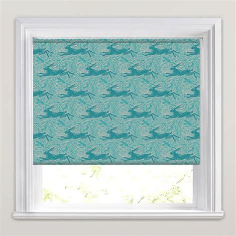 vintage pattern blinds vintage hare dove patterned roller blinds in teal taupe