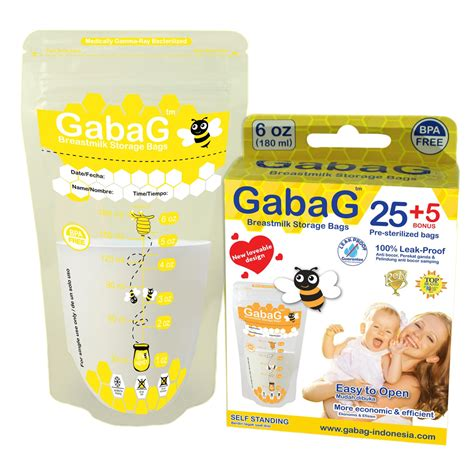 Gabag Kantong Asi 180ml New Design restok new pack gabag kantong asi breastmilk bag isi