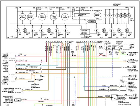 i need the wiring diagram for the instrument panel on a