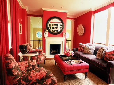 25  Red Living Room Designs, Decorating Ideas   Design