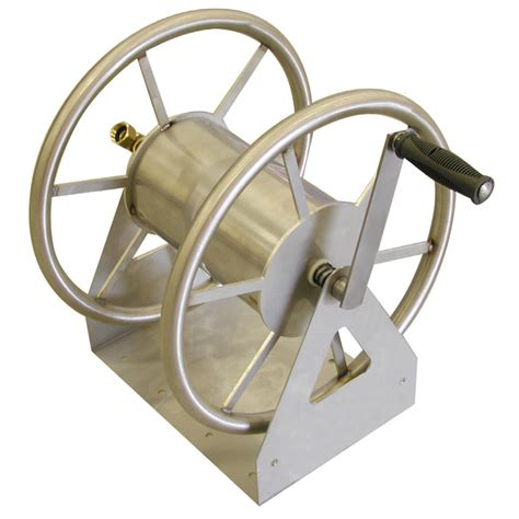 garden hose wall mount shop liberty garden products steel 5 ft wall mount hose reel at lowes