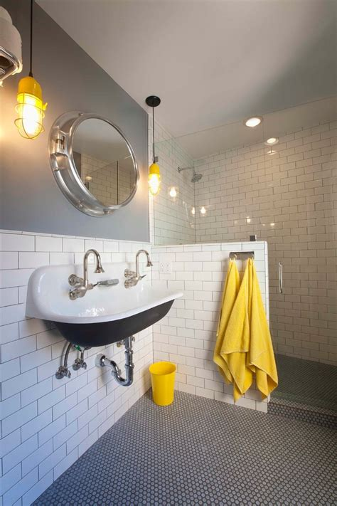 black and white bathroom accent color kohler brockway bathroom farmhouse with black and white