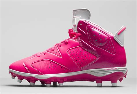 pink football shoes pink air 6 cleats for breast cancer awareness