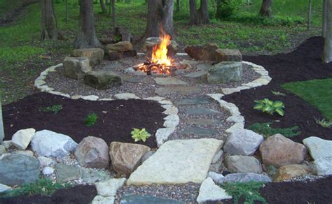 Firepit Landscaping Grid Home Sweet Home Backyard Pit Ideas