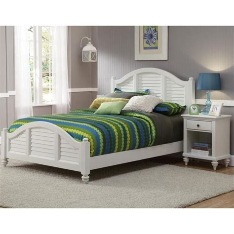 home styles bermuda 2 bedroom set in white finish