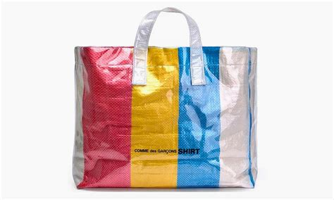 colored plastic bags comme des gar 199 ons shirt s colored plastic bag is the