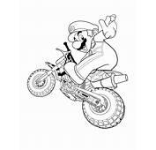 スー�ーマリオ(Mario)ぬりえ 【無料こどもぬりえ