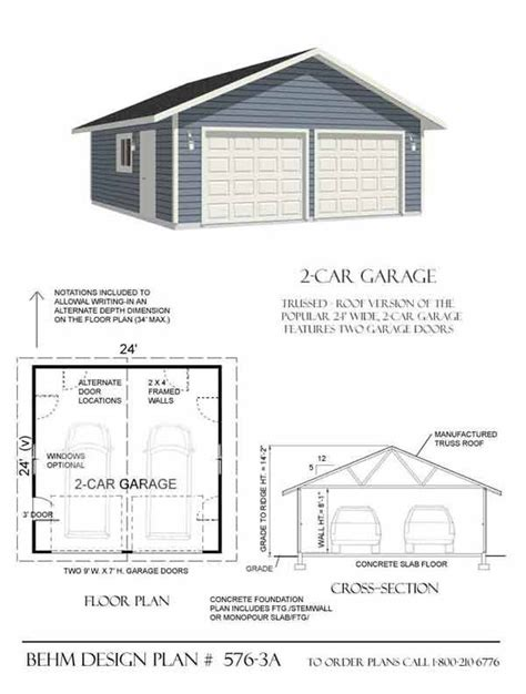 Cave Garage Plans by Garage Plans By Behm Design Pdf Plans A Collection Of