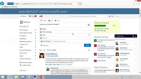 Office 365 Yammer Admin Administering Office 365 For Small Business 10