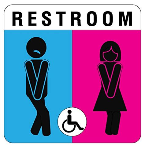 Modern Bathroom Signs by Unisex Bathroom Sign And Modern Door Toilet