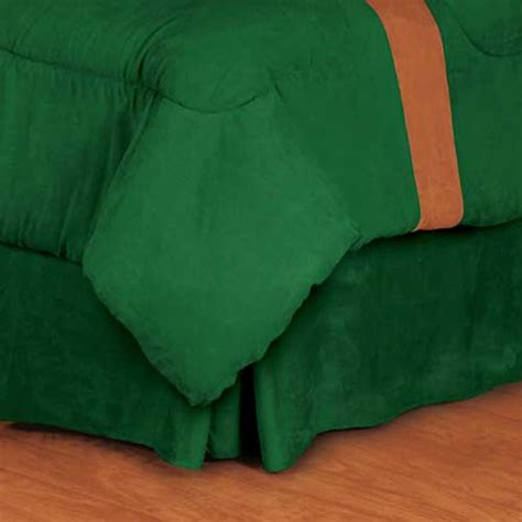 green bed skirt microsuede green pleated bed skirt