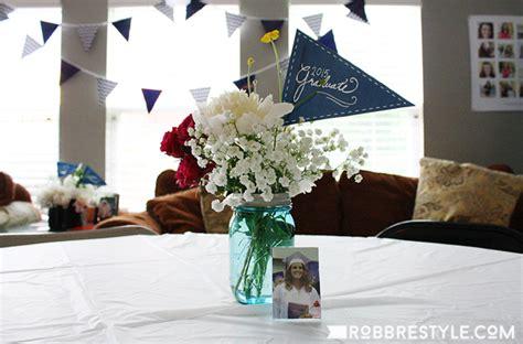 graduation centerpieces diy diy graduation ideas robb restyle