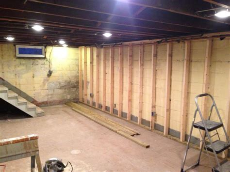 studding out the basement handy - Studding A Basement