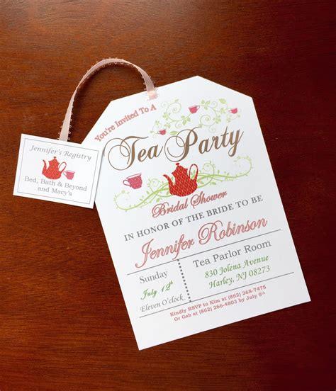 Tea Bridal Shower Invitations by Tea Bridal Shower Invitations