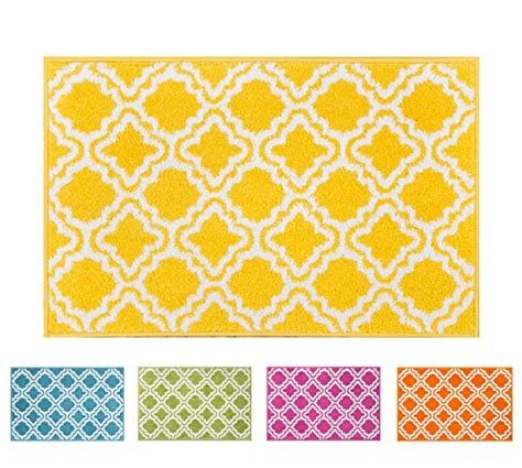 bright kitchen rugs small rug mat doormat well woven modern room kitchen rug calipso yellow 1 8 quot x 2 7 quot lattice