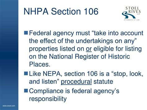 nhpa section 106 ppt geothermal projects and indian tribes dealing with