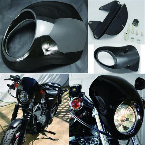 Fairing Custom Cafes Lu 45 Inch buy black headlight front visor fairing cool mask bezel harley sportster xr 1200 2009 dyne
