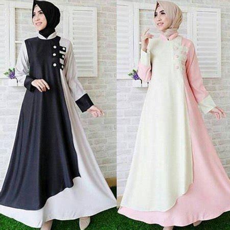 List Gamis Hitam Dress Murah Pakaian Muslim Wanita Kania Dress jual gamis dress wanita muslimore