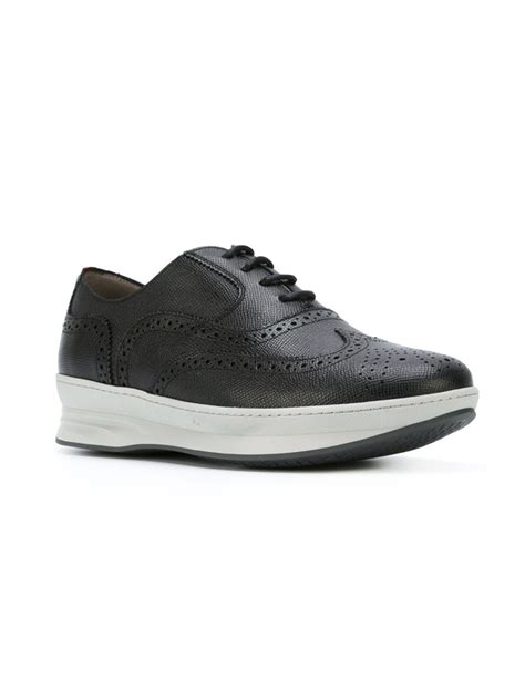 ferragamo sneakers mens ferragamo marlow sneakers in black for lyst