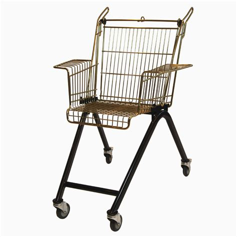 Shopping Chair by Xavier Degueldre Recycles Discarded Shopping Carts Into Chairs