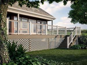 Deckorators classic gray with deck board top rail