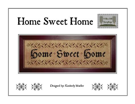 home patterns home sweet home cross stitch pattern