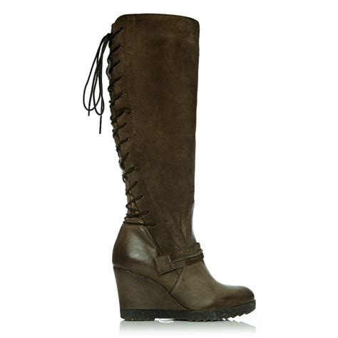 beami taupe leather boots from moda in pelle uk