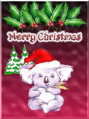 koalas  christmas email cards